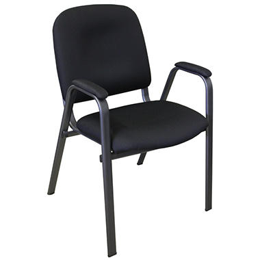 Commerical Quality Guest Chair, Black - 4 pk.