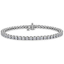 4.95 CT. T.W. Diamond Tennis Bracelet in 14K White Gold (H-I, I1)