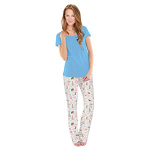 Munki Munki V-Neck Tee & Pant PJ Set (Assorted Colors)