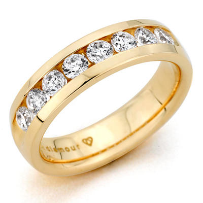0.46 CT. T.W. Men's Diamond Band in 14K Yellow Gold (H-I, I1)