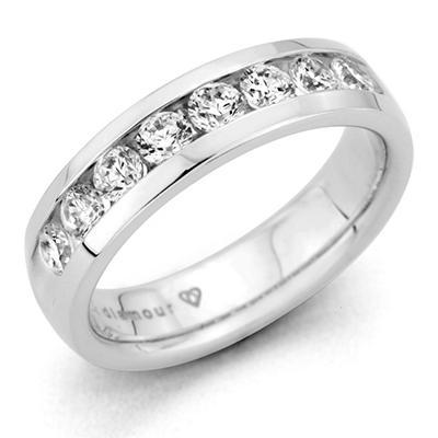 0.46 CT. T.W. Men's Diamond Band in 14K White Gold (H-I, I1)