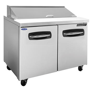 Nor-Lake AdvantEDGE Stainless Steel Sandwich Prep Unit - 48 1/4