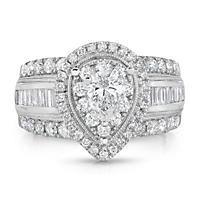 1.95 CT. T.W. Regal Engagement Ring in 14K White Gold