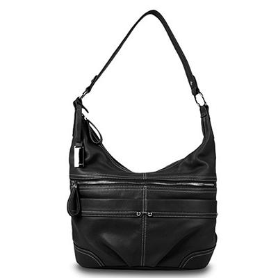 Ellen Tracy Leather Handbag - Hobo or Satchel in Assorted Colors