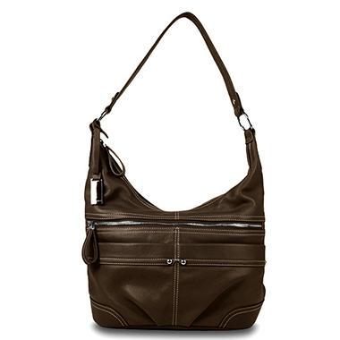 Ellen Tracy Leather Handbag - Hobo or Satchel in Assorted Colors