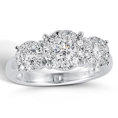 1.50 ct. t.w. Unity Diamond White Gold Halo Engagement Ring (I, I1)