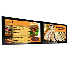 "Dual Screen 42"" Gallery™ Powered Pro Menu Board Flat Panel Digital Signage Display With Mount"