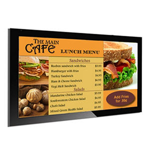 Gallery? Powered Pro Menu Board Flat Panel Digital Signage Display With Mount - 42""