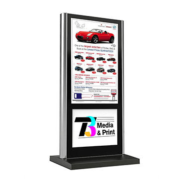 "46"" Gallery™ Powered Full-Feature Portrait Flat Panel Digital Signage Kiosk Display With Logo Panel"
