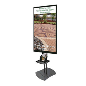 "46"" Gallery? Powered Full-Feature Portrait Flat Panel Digital Signage Center Display"