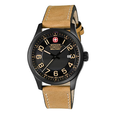 Wenger Swiss Military Terragraph Watch With Pvd Case And