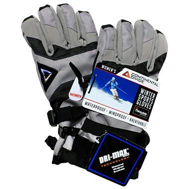Continental Divide Women's Ski Glove - Gray