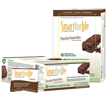 Smart for Life Chocolate Protein Bars - 12 ct. box
