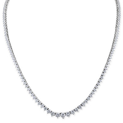 8 CT. T.W. Round-cut Diamond Necklace in 18K White Gold (H-I, SI2)