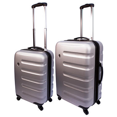 Heys Router 2pc Luggage Set Silver