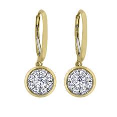 0.62 CT.T.W. Unity Diamond Earrings in 14K Yellow Gold (I, I1)