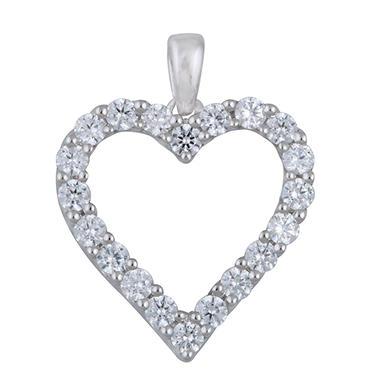 1.00 CT.T.W. Heart Shaped Diamond Pendant in 14K White Gold (I,I1)