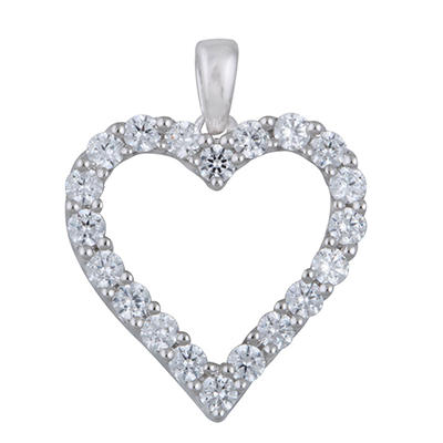 1.00 CT.T.W. Heart Shaped Diamond Pendant in 14K White Gold (I,I1)