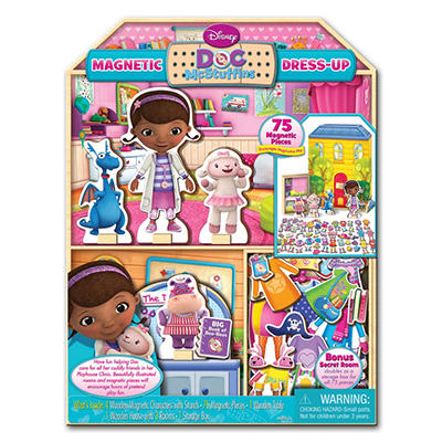 Disney Doc McStuffins Wooden Magnetic Doll & Playhouse