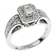 0.95 ct. t.w. Emerald Regal Diamond Ring in 14K White Gold (I, SI2)
