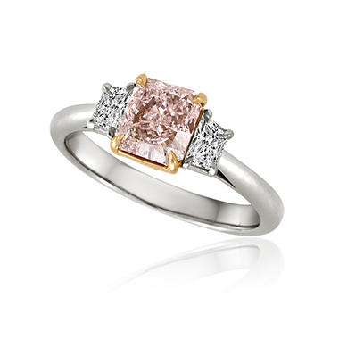 1.56 ct. t.w. Natural Pink and White Diamond Ring in Platinum and 18k Pink Gold (G-H, VS2-SI1)