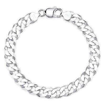 Italian Sterling Silver Curb Link Bracelet