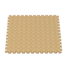 Norsk Raised Coin Pattern PVC Floor Tiles, Select Color - 6 Pack