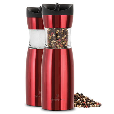 Wolfgang Puck Set of 2 Gravity Spice Mills - Various Colors