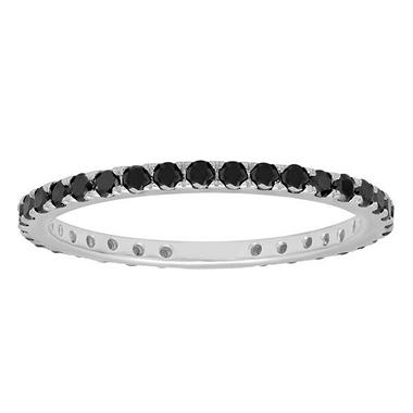 0.50 ct. t.w. Eternity Diamond Band in 18k White Gold (Black)