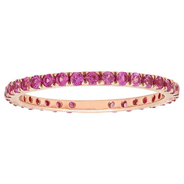 .59 ct. t.w. Pink Sapphire Band in 18k Rose Gold