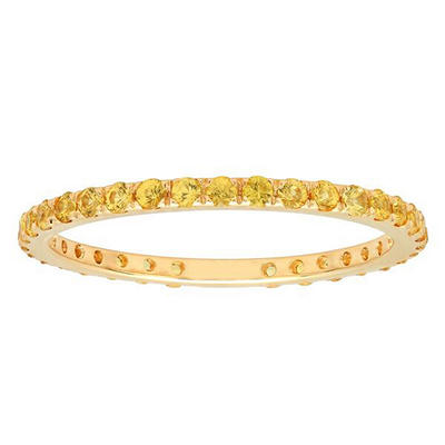 .59 ct. t.w. Yellow Sapphire Band in 18k Yellow Gold