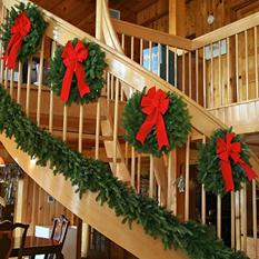 Maine Balsam Mini Christmas Wreaths, 4 Pack
