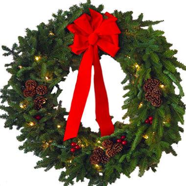 Christmas Classic Pre-Lit 30 Inch Wreath