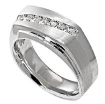 1/2 ct. t.w. Men's Diamond Ring in White Gold
