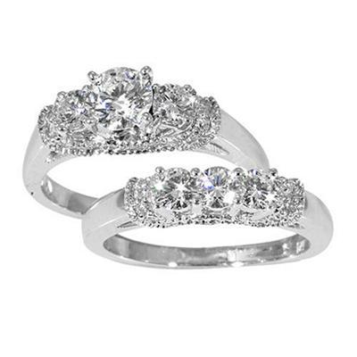 1.50 ct. t.w. Diamond Bridal Ring Set in 14k White Gold (G-H, SI2)