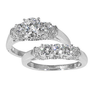 1.50 ct. t.w. Diamond Bridal Ring Set in 14k White Gold (G-H, SI2)