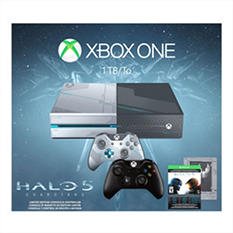 Xbox One 1TB Limited Edition Halo 5: Guardians Console with Extra Controller Bundle