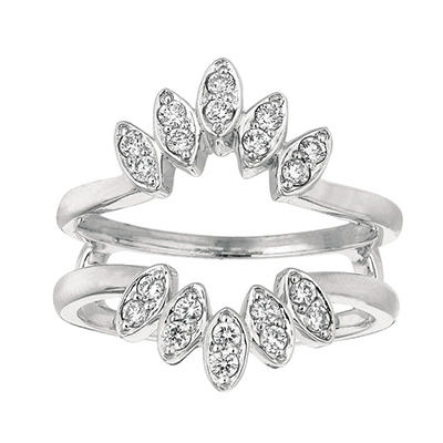 0.35 ct. t.w. Round-Cut Diamond Ring Guard (I, I1)