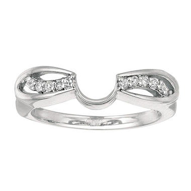0.10 ct. t.w. Round Diamond Wrap Ring in 14k White Gold (I, I1)