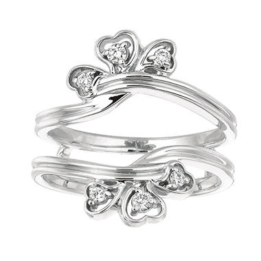 0.14 ct. t.w. Round-Cut Diamond Ring Guard (I, I1)