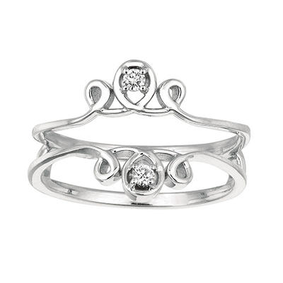 0.06 ct. t.w. Round Diamond Ring Guard in 14k White Gold (I, I1)