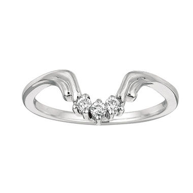 0.10 ct. t.w. Round Wrap Around Diamond Ring in 14k White Gold (I, I1)