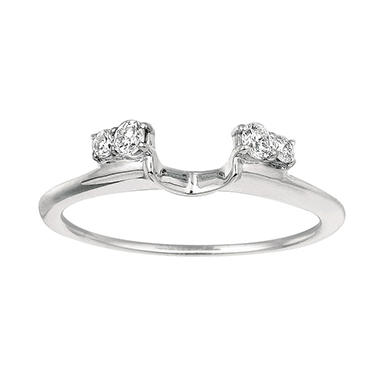 0.18 ct. t.w. Round Diamond Wrap Ring in 14k White Gold (I, I1)