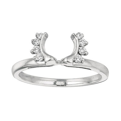 0.12 ct. t.w. Round Wrap Around Diamond Ring in 14k White Gold (I, I1)