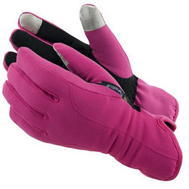 Manzella Softshell Women's Commuter Gloves with TouchTip? - Pink