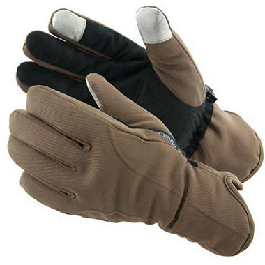 Manzella Softshell Women's Commuter Gloves with TouchTip™ - Brown Sugar