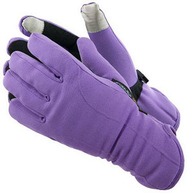 Manzella Softshell Women's Commuter Gloves with TouchTip? - Purple