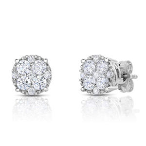 1.45 ct. t.w. Diamond Stud in 14k White Gold