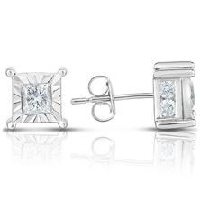 1.45 CT. T.W. Solitaire Plus Earrings in 14K White Gold