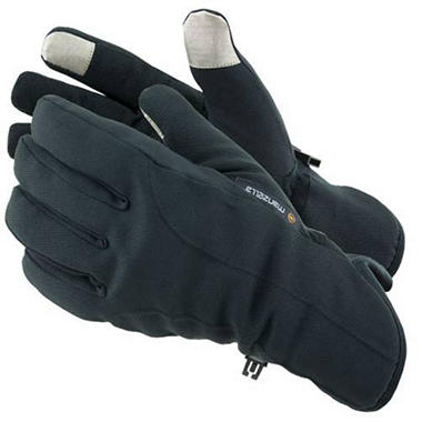 Manzella Softshell Men's Commuter Gloves with TouchTip? - Black